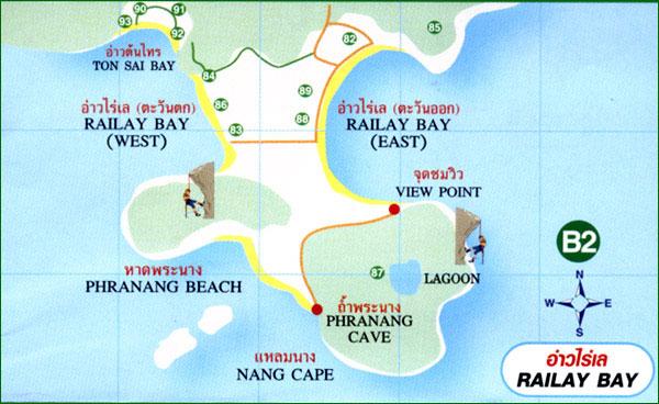 railay map b2 Один незабываемый день на Рейли