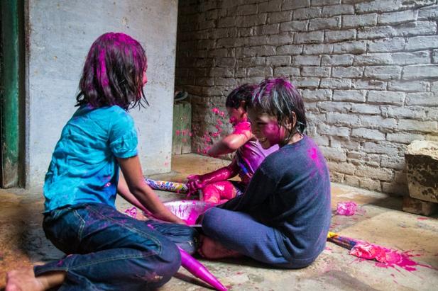 DSC 0976 Холи в Варанаси   праздник красок и весны